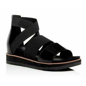 NEW 10 Eileen Fisher Platform Comfort Black Sandal